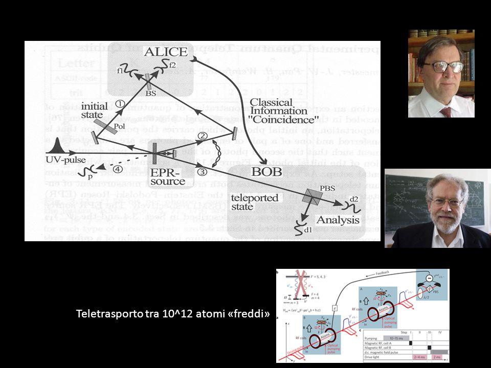 Teletrasporto tra 10^12 atomi «freddi»