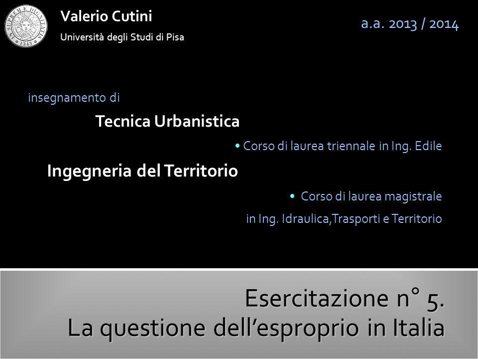 La questione dell'esproprio in Italia