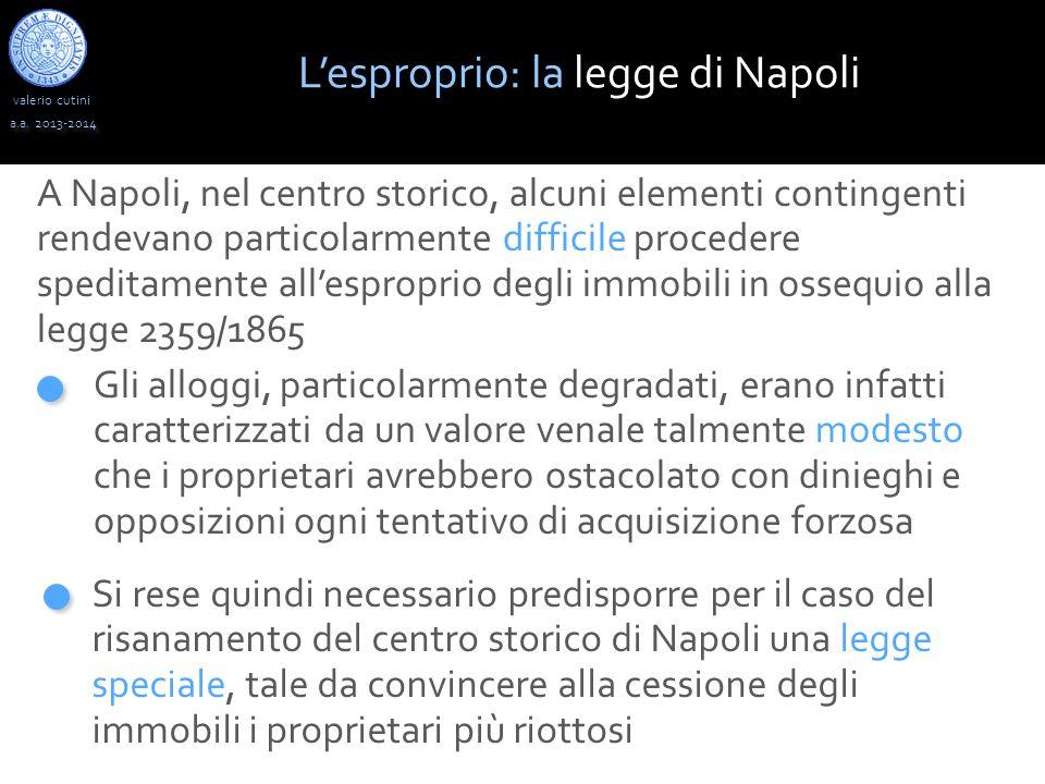 L'esproprio: la legge di Napoli