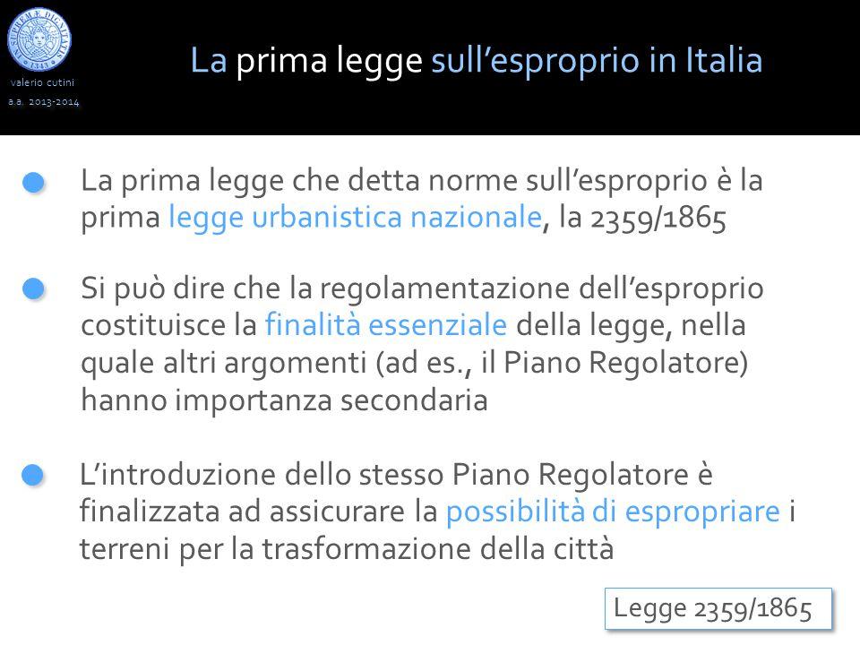 La prima legge sull'esproprio in Italia