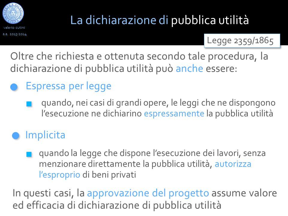 La dichiarazione di pubblica utilità