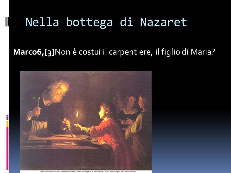 Nella bottega di Nazaret