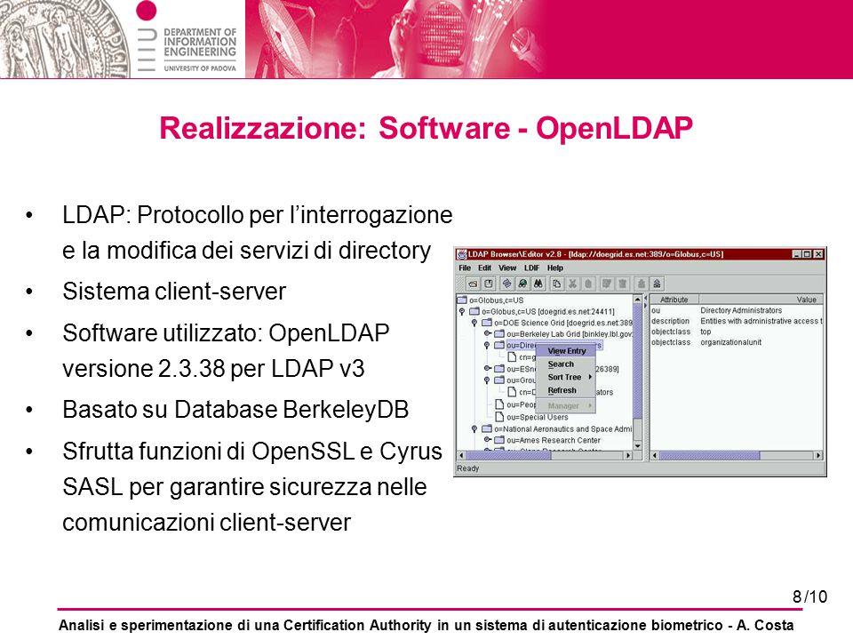 Realizzazione: Software - OpenLDAP