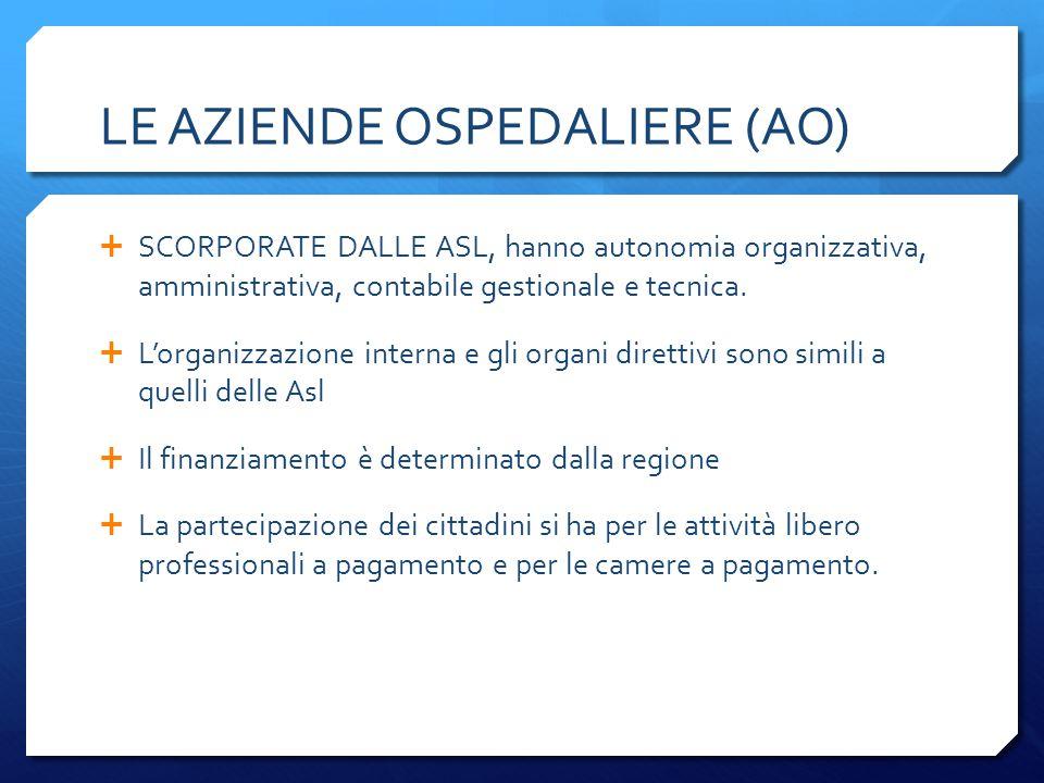 LE AZIENDE OSPEDALIERE (AO)