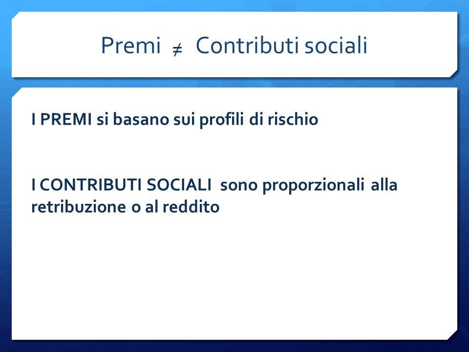 Premi Contributi sociali