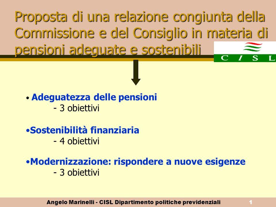 Angelo Marinelli - CISL Dipartimento politiche previdenziali