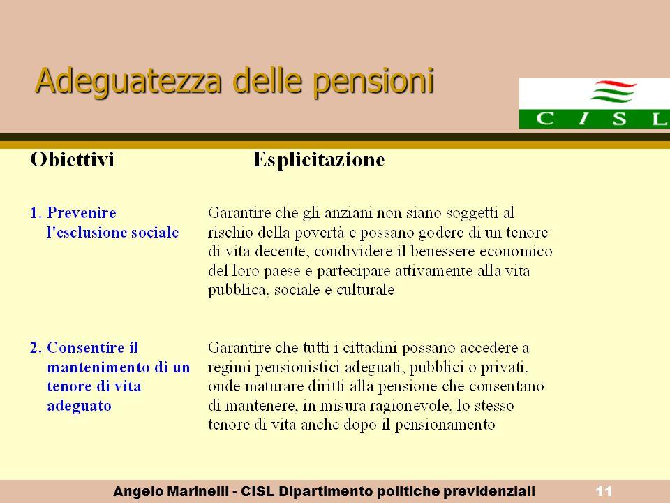 Adeguatezza delle pensioni