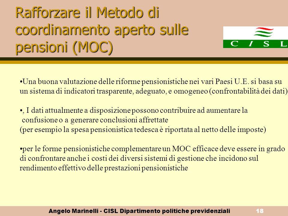 Rafforzare il Metodo di coordinamento aperto sulle pensioni (MOC)