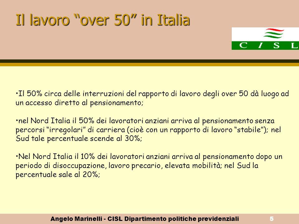 Il lavoro over 50 in Italia