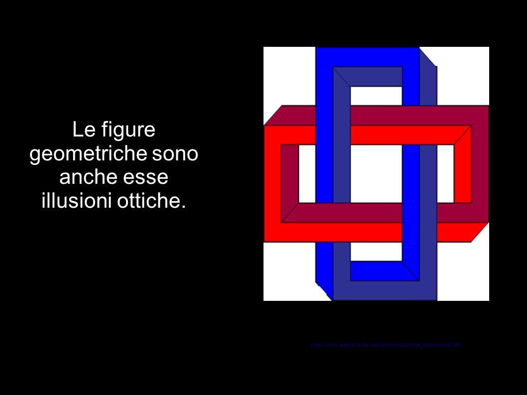 Le figure geometriche sono anche esse illusioni ottiche.