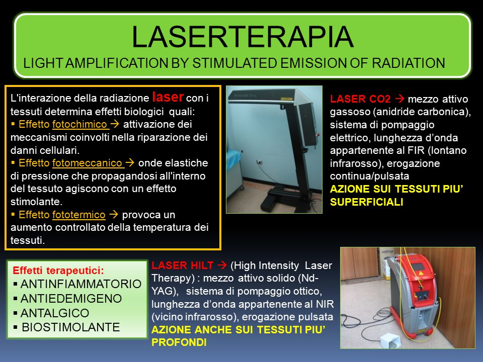 LASERTERAPIA LIGHT AMPLIFICATION BY STIMULATED EMISSION OF RADIATION