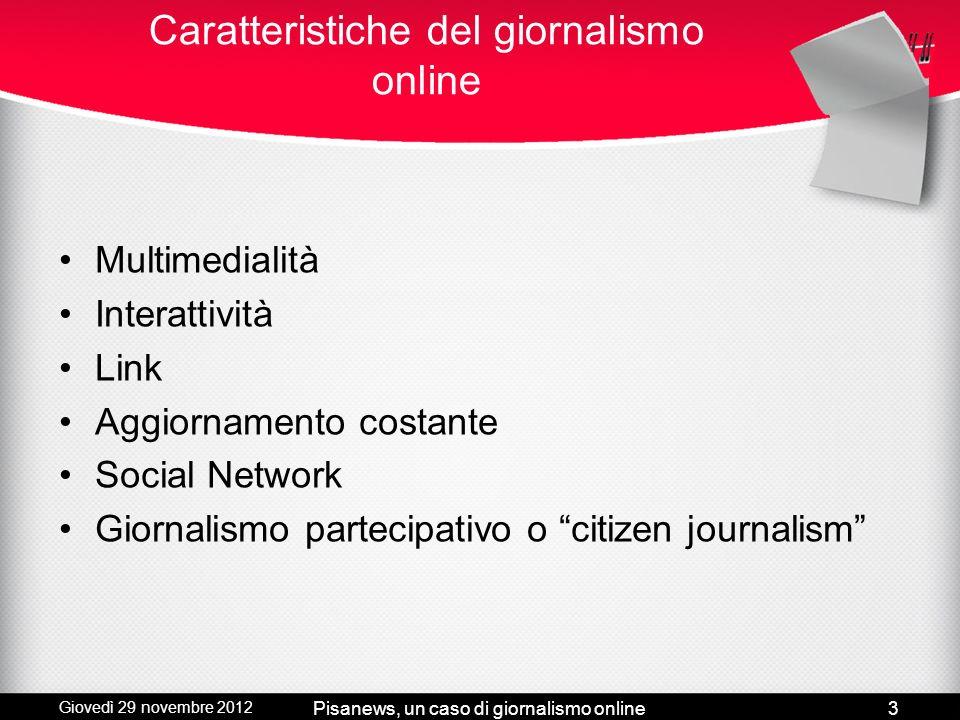 Caratteristiche del giornalismo online