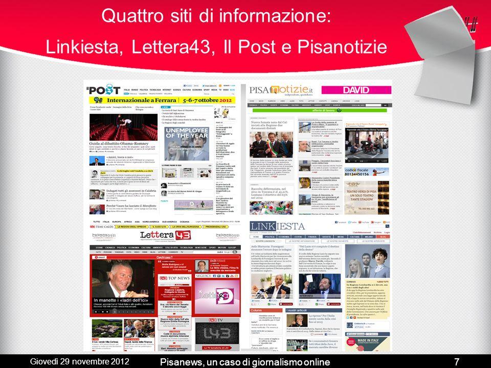 Pisanews, un caso di giornalismo online