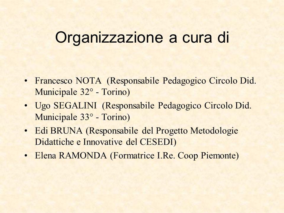 Organizzazione a cura di