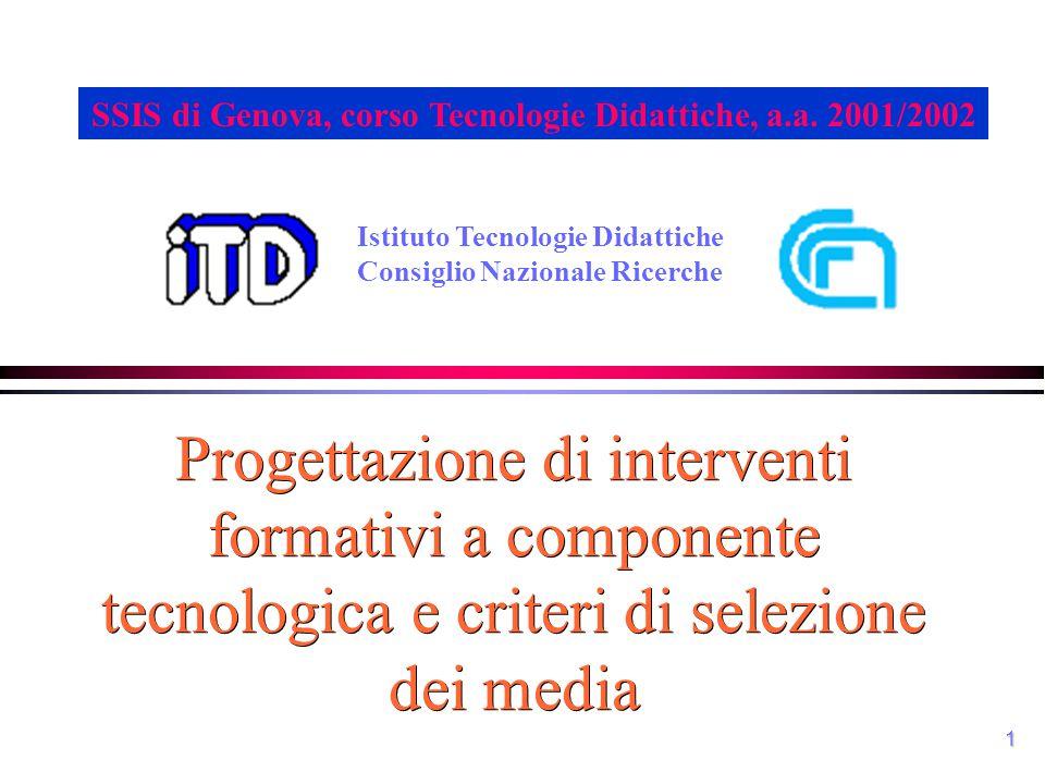 SSIS di Genova, corso Tecnologie Didattiche, a.a. 2001/2002
