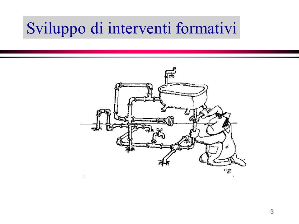 Sviluppo di interventi formativi