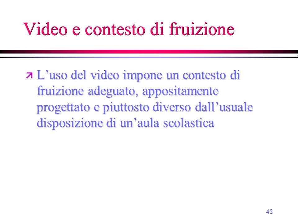 Video e contesto di fruizione