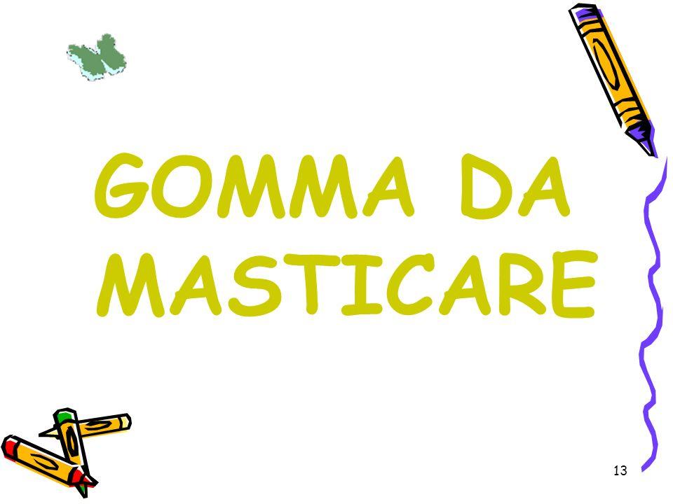 GOMMA DA MASTICARE