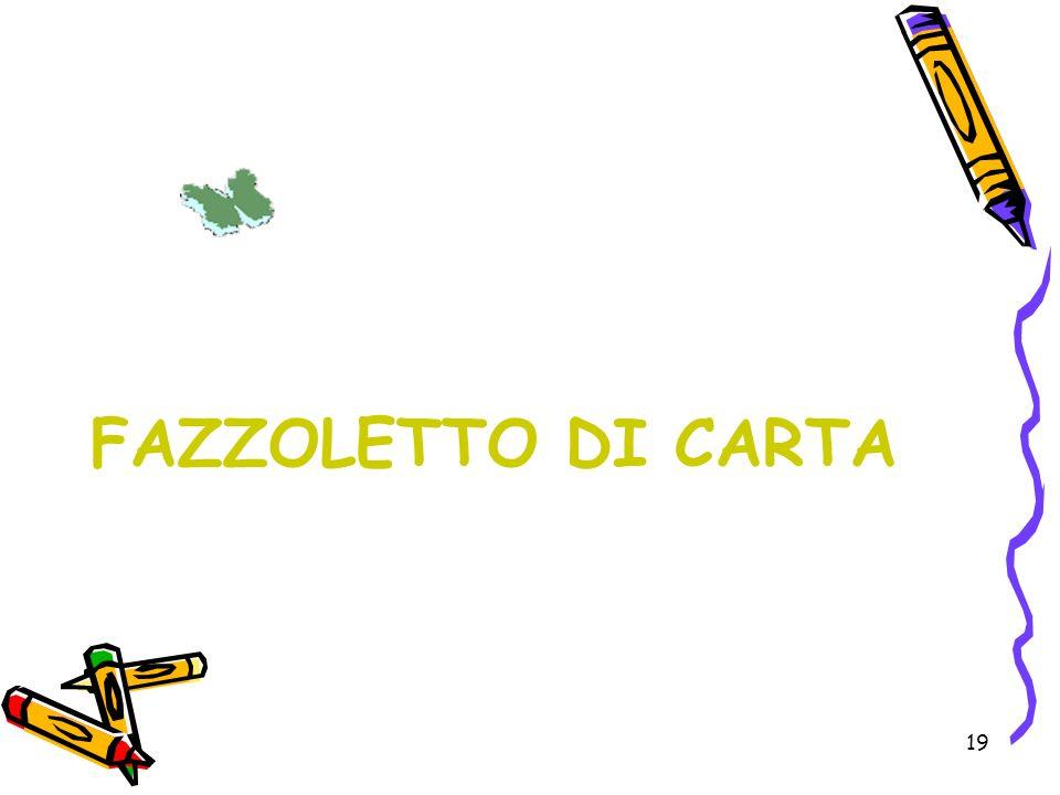 FAZZOLETTO DI CARTA