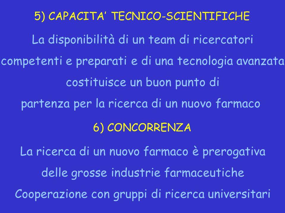 La disponibilità di un team di ricercatori