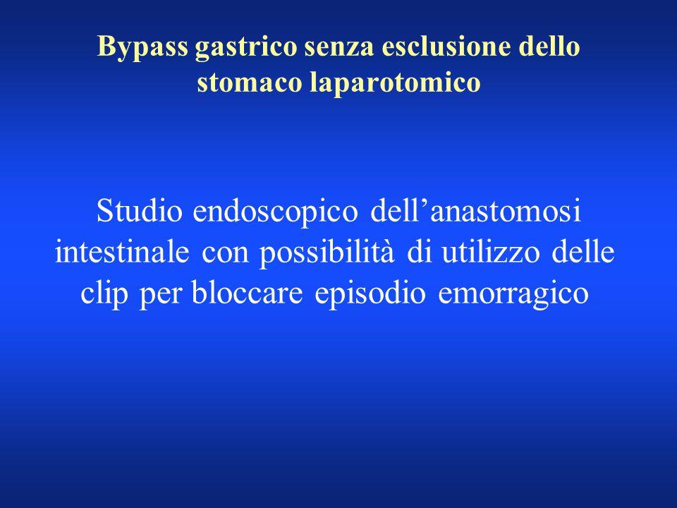 Bypass gastrico senza esclusione dello stomaco laparotomico
