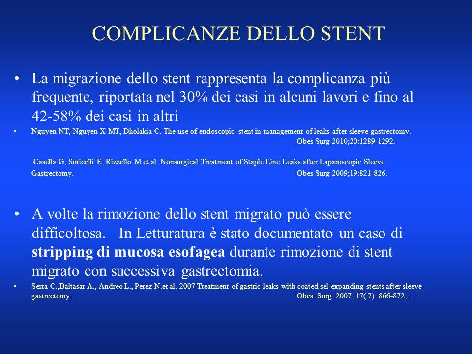 COMPLICANZE DELLO STENT