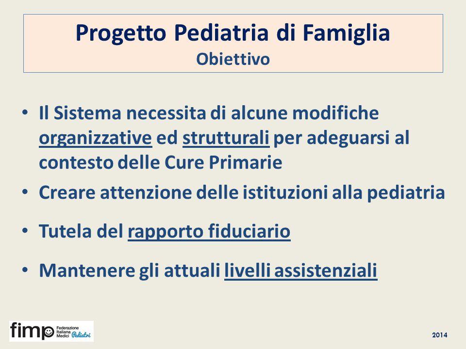 Progetto Pediatria di Famiglia Obiettivo