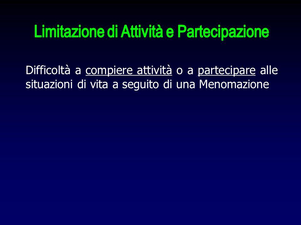 Limitazione di Attività e Partecipazione