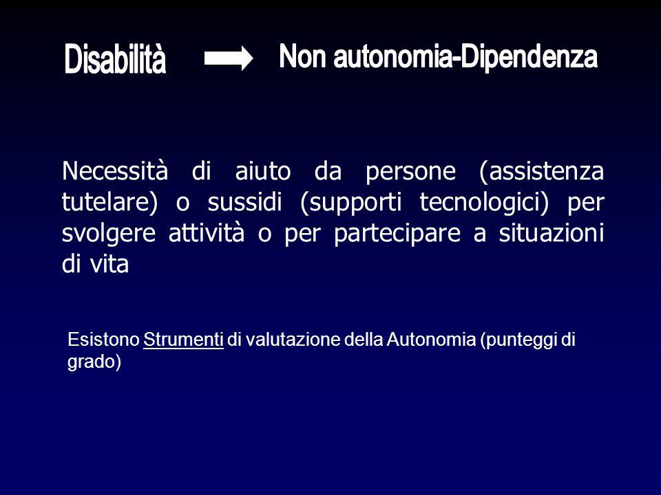 Non autonomia-Dipendenza