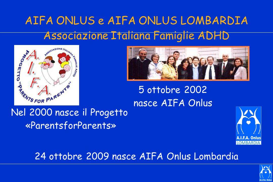 AIFA ONLUS e AIFA ONLUS LOMBARDIA Associazione Italiana Famiglie ADHD