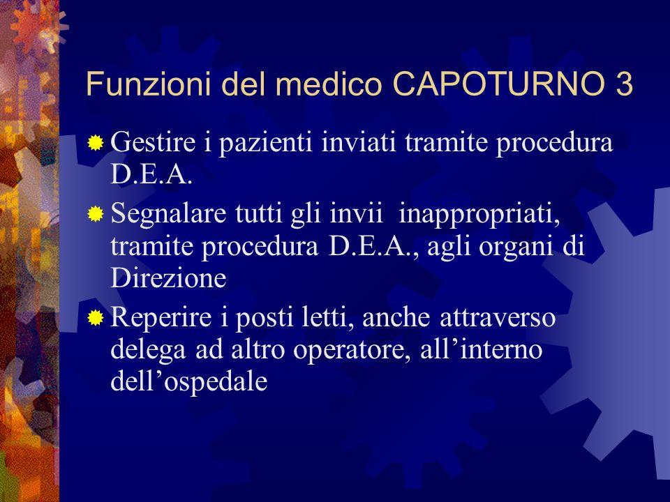 Funzioni del medico CAPOTURNO 3