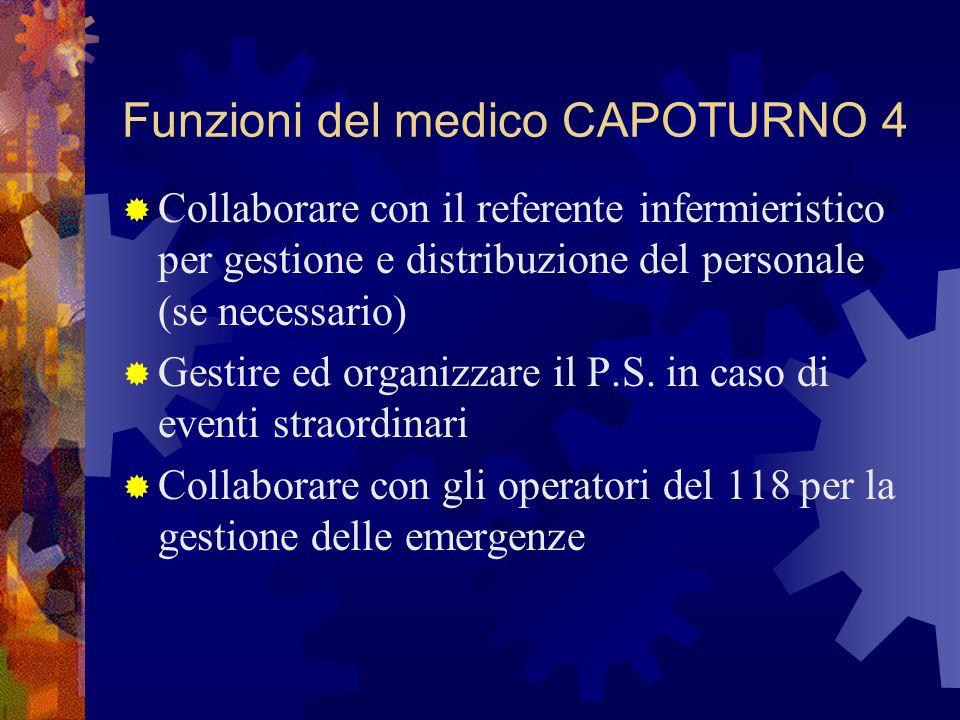 Funzioni del medico CAPOTURNO 4