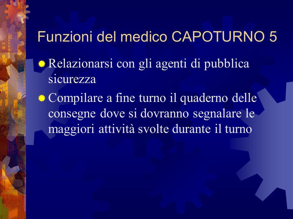 Funzioni del medico CAPOTURNO 5