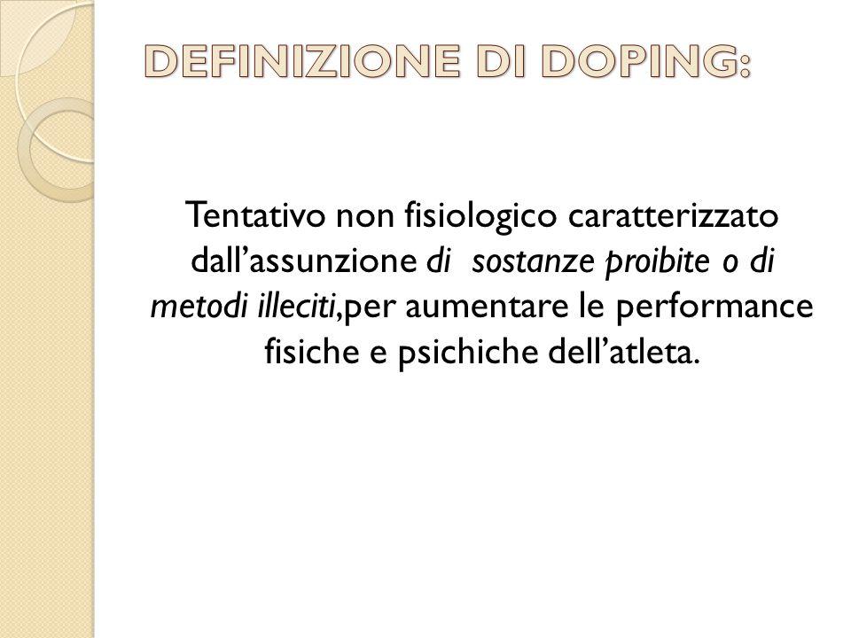 DEFINIZIONE DI DOPING: