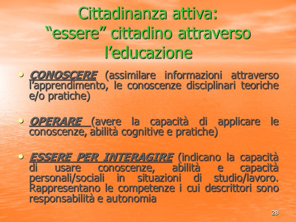 Cittadinanza attiva: essere cittadino attraverso l'educazione