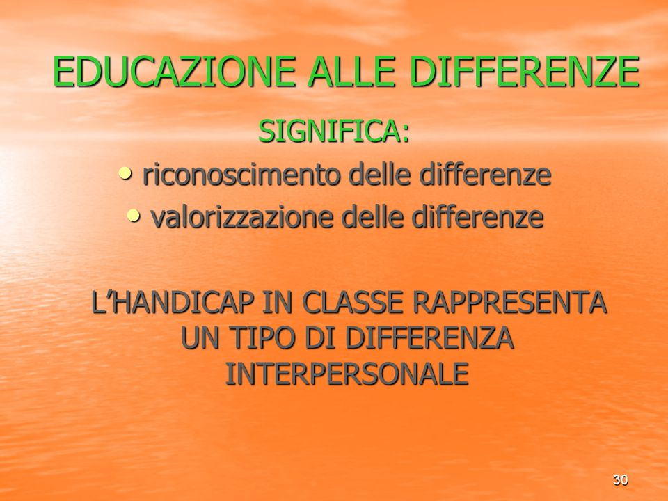 EDUCAZIONE ALLE DIFFERENZE