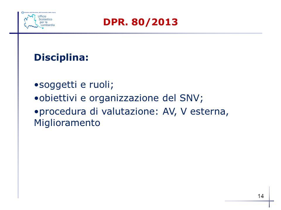 obiettivi e organizzazione del SNV;