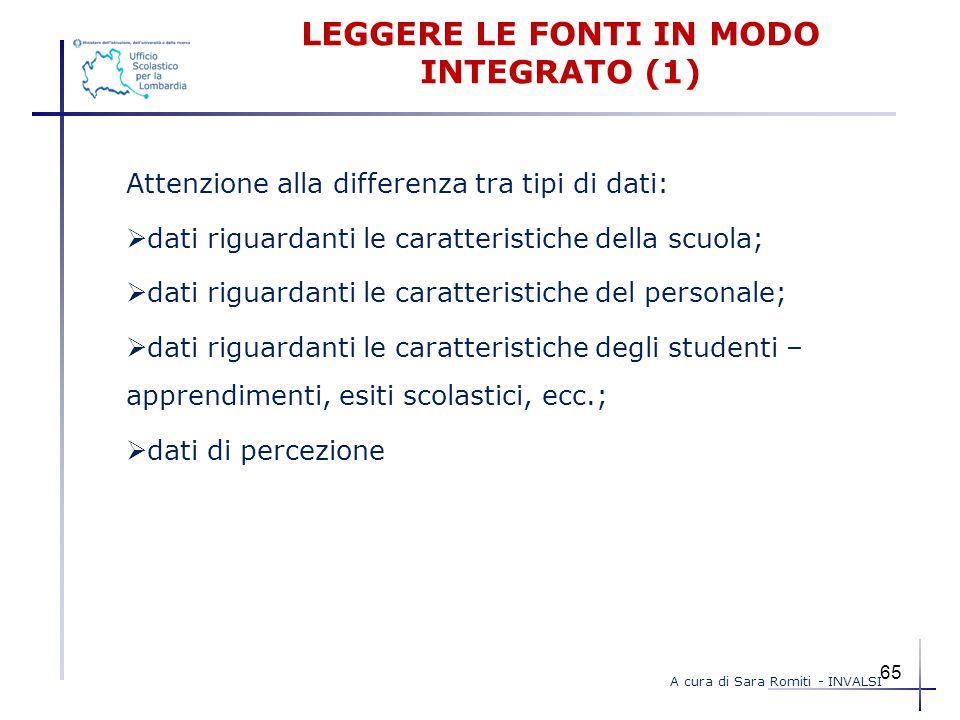 LEGGERE LE FONTI IN MODO INTEGRATO (1)