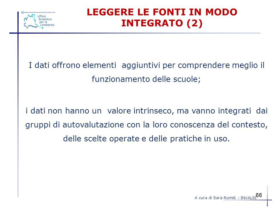 LEGGERE LE FONTI IN MODO INTEGRATO (2)