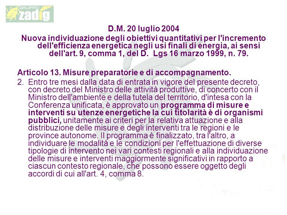 D.M. 20 luglio 2004