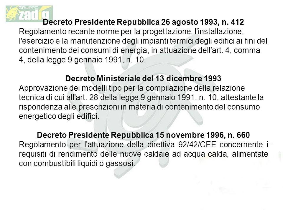 Decreto Presidente Repubblica 26 agosto 1993, n. 412