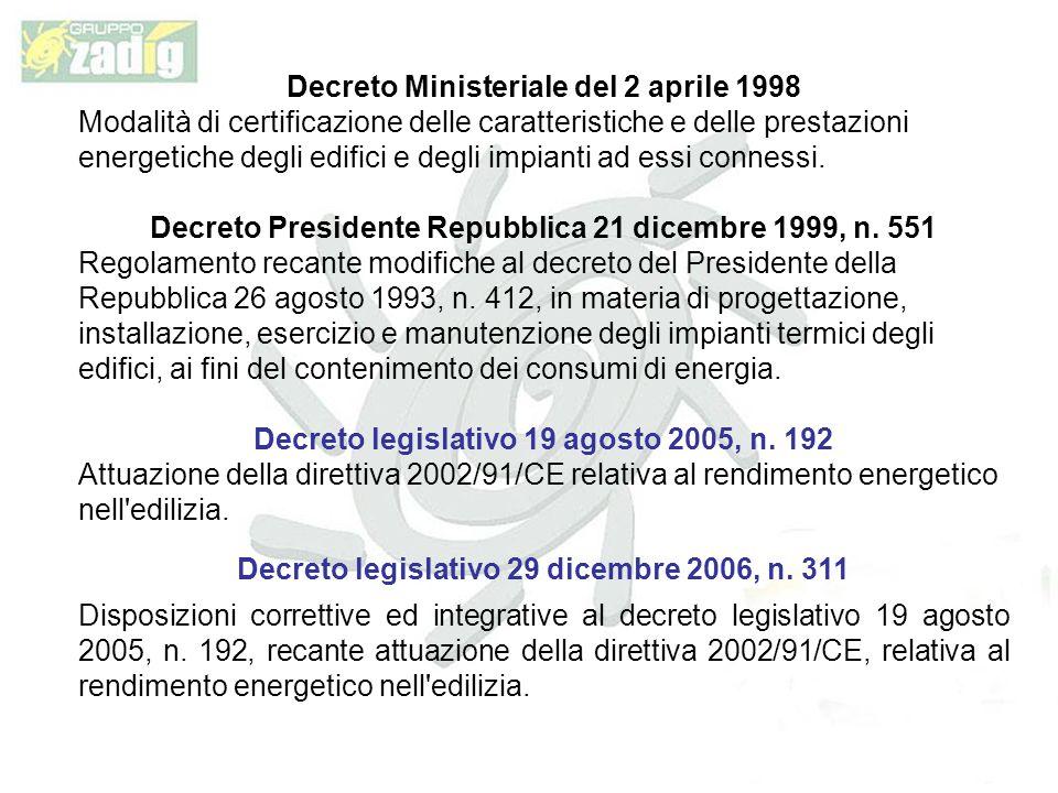 Decreto Ministeriale del 2 aprile 1998
