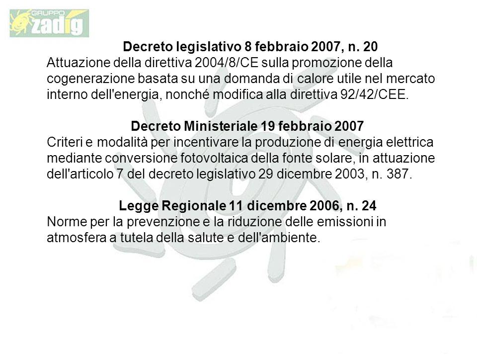 Decreto legislativo 8 febbraio 2007, n. 20