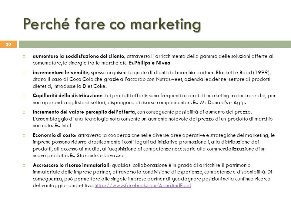 Perché fare co marketing