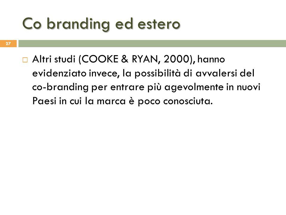 Co branding ed estero