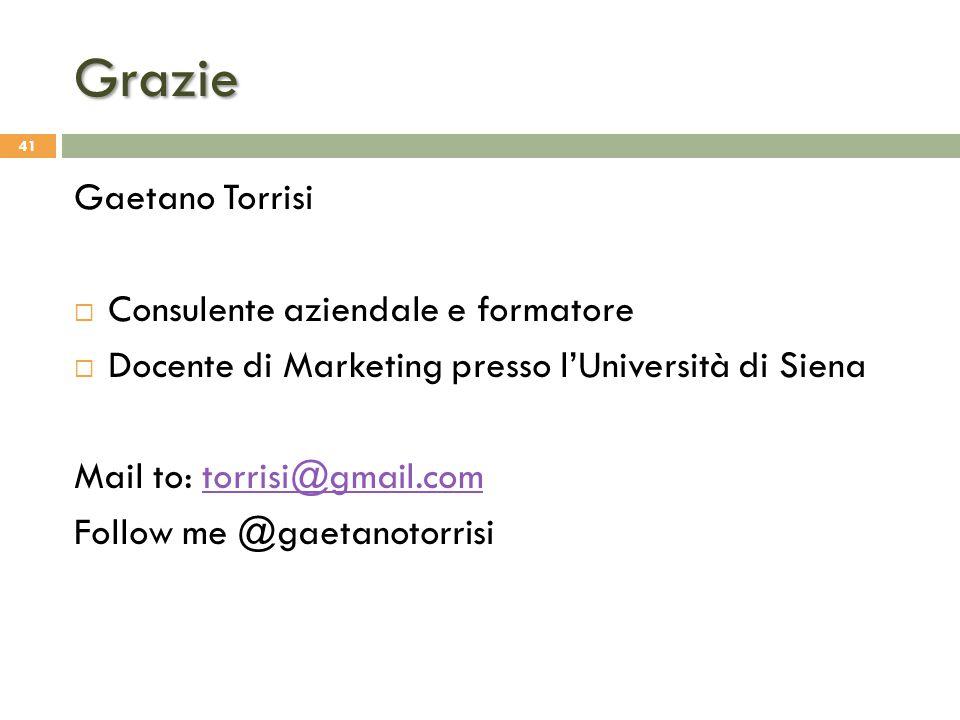 Grazie Gaetano Torrisi Consulente aziendale e formatore