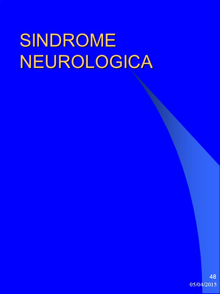 SINDROME NEUROLOGICA 10/04/2017