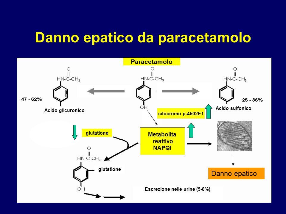 Danno epatico da paracetamolo