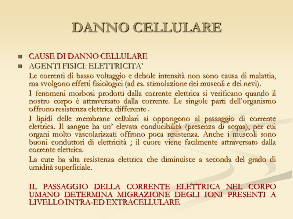 DANNO CELLULARE CAUSE DI DANNO CELLULARE AGENTI FISICI: ELETTRICITA'