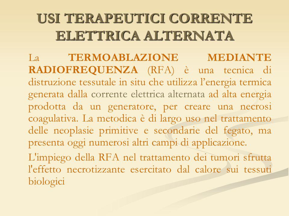 USI TERAPEUTICI CORRENTE ELETTRICA ALTERNATA